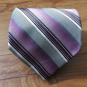 Platinum Designs Mens Striped Necktie 100% Silk